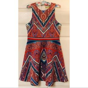 Gianni Bini Aztec fit and flare skater dress